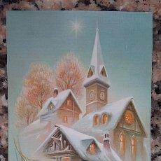 Postales: PERALTA ILUSTRADOR. CHRISTMAS IGLESIA, POSTAL DE NAVIDAD AÑOS 70-80 SIN USAR. . Lote 98917663