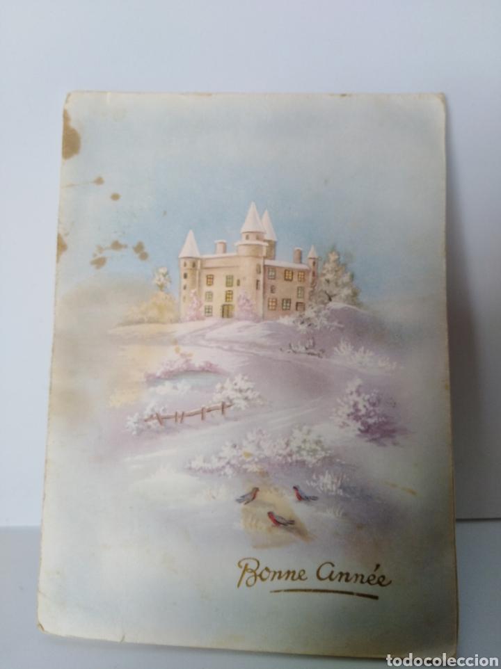 Postales: Tarjeta navidad troquelada antigua - Foto 2 - 99435540
