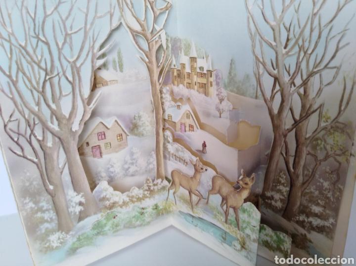 Postales: Tarjeta navidad troquelada antigua - Foto 4 - 99435540