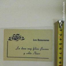 Postales: TARJETA FELICITACIÓN DE NAVIDAD DE LOS BASUREROS LES DESEA MUY FELICES PASCUAS..... Lote 98660579