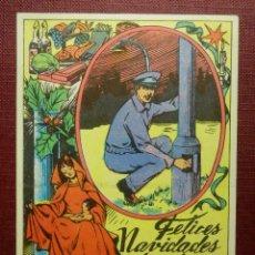 Postales: MUY ANTIGUA FELICITACIÓN NAVIDEÑA - EL FAROLERO LES DESEA FELIZ NAVIDAD - BARCELONA - 1968. Lote 99899411