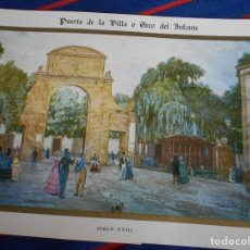Postales: PUERTA DE LA VILLA O ARCO DEL INFANTE. GIJON. SIGLO XVIII. SEXTA ESTAMPA COLECCIONABLE DEL VIEJO GIJ. Lote 102421551
