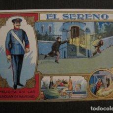 Postales: EL SERENO - FELICITA PASCUAS NAVIDAD- MUY ANTIGUA -VER FOTOS -(50.866). Lote 102610439