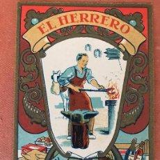 Postales: ANTIGUA FELICITACIÓN NAVIDEÑA O CHRISTMAS: EL HERRERO. Lote 103211391