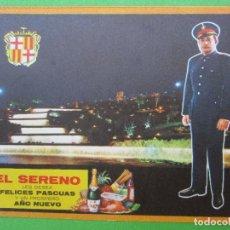 Postales: FELICITACION NAVIDAD EL SERENO , BARCELONA , 1963. Lote 103288415