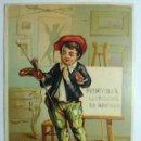 Postales: ANTIGUA FELICITACION DE NAVIDAD Y PASCUAS. EL ARTISTA - JUAN SALVADÓ BARCELONA. MUY RARA. Lote 103999147