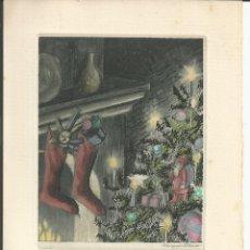 Postales: POSTAL NAVIDAD VILA RUFAS ? - ARBOL Y CALCETINES JUNTO CHIMENEA - HELIOGRAB. F. MELICH. Lote 19356931