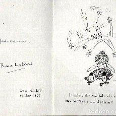 Postales: FELICITACION NAVIDAD ROSER LATORRE * I VOLEU DIR QUE TOTS ELS ESTELS ENS PORTARAN A BETLEM ? 1977. Lote 104368691