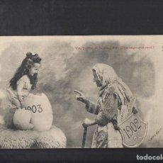 Postales: ANTIGUA POSTAL . CAMBIO DE AÑO 1902-1903. CIRCULADA 1902. Lote 104396871