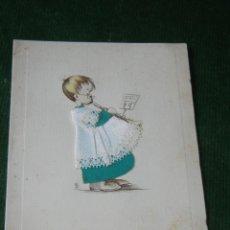 Postales: FELICITACION NAVIDAD - ILUSTRADOR B - VESTIDO TELA Y ENCAJE - ED.ORTIZ 1959. Lote 104958763