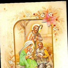 Postales: FELICITACION TROQUELADA NAVIDAD LOPEZ * NACIMIENTO * 1986. Lote 106590023