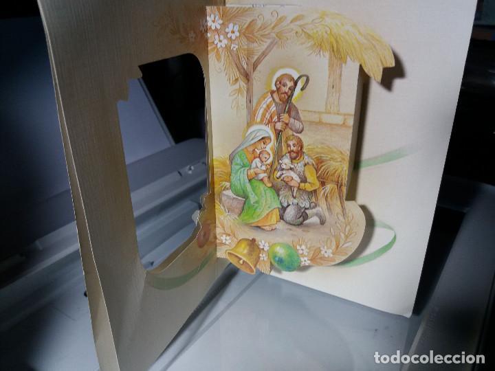 Postales: FELICITACION TROQUELADA NAVIDAD LOPEZ * NACIMIENTO * 1986 - Foto 2 - 106590023