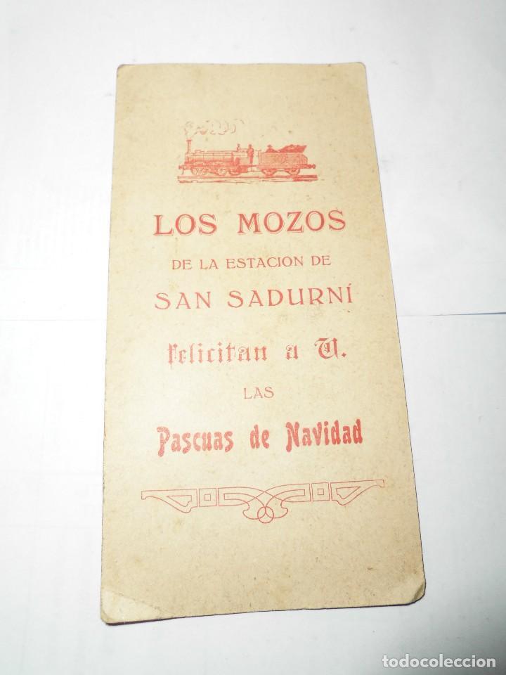 Postales: antigua felicitacion los mozos de la estacion de san sadurni felicitan las pascuas de navidad - Foto 2 - 106706247