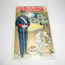 Postales: ANTIGUA FELICITACION, EL SERENO FELICITA LAS PASCUAS DE NAVIDAD. Lote 106710135