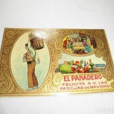 Postales: ANTIGUA FELICITACION, EL PANADERO FELICITA LAS PASCUAS DE NAVIDAD. Lote 106710567