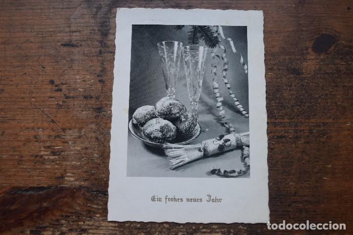 FELICITACION DE AÑO NUEVO, ALEMANIA, APROX 1952, SIN CIRCULAR (Postales - Postales Temáticas - Navidad)