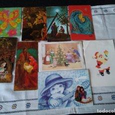 Postales: 66-LOTE DE 9 POSTALES NAVIDEÑAS ANTIGUAS. Lote 109005999