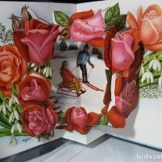 Postales: FELICITACION TROQUELADA NAVIDAD ZSOLT * PAREJA EN LA NIEVE *. Lote 109300271