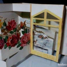 Postales: FELICITACION TROQUELADA NAVIDAD FRANCESA *. Lote 109303607