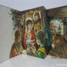 Postales: POSTAL NAVIDAD TROQUELADA DESPLEGABLE ESC. 1964 VER FOTO ADICIONAL . Lote 109456647
