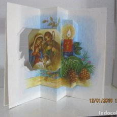 Postales: POSTAL NAVIDAD TROQUELADA DESPLEGABLE ESC. VER FOTO ADICIONAL. Lote 109460183
