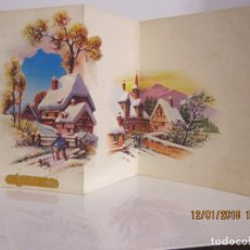 Postales: POSTAL NAVIDAD TROQUELADA DESPLEGABLE ESC. 1959 FRANCESA . Lote 109463759