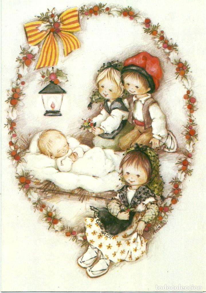 0634N - EDICIONES ORTIZ SERIE X520 - DIPTICA 16,5X11,5 CM - ILUSTRA MARIA (Postales - Postales Temáticas - Navidad)