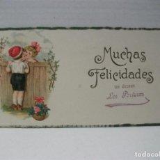 Postales: TARJETA DE FELICITACION DE NAVIDAD LOS PORTEROS. Lote 110750175