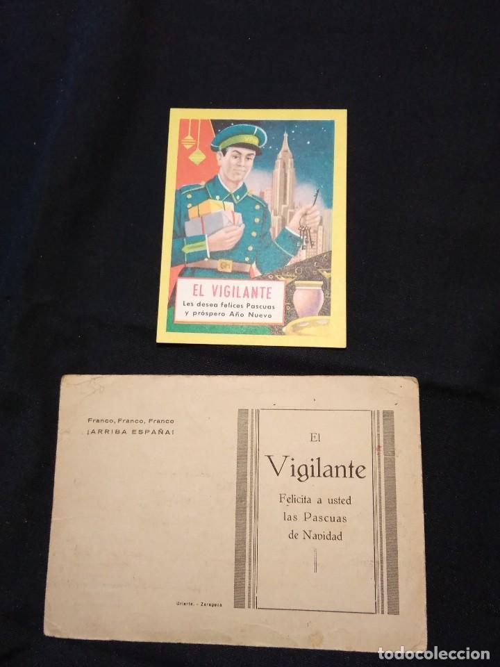FELICITACION NAVIDAD 'EL VIGILANTE'. AÑOS 40, Y OTRA DE 1954. (Postales - Postales Temáticas - Navidad)