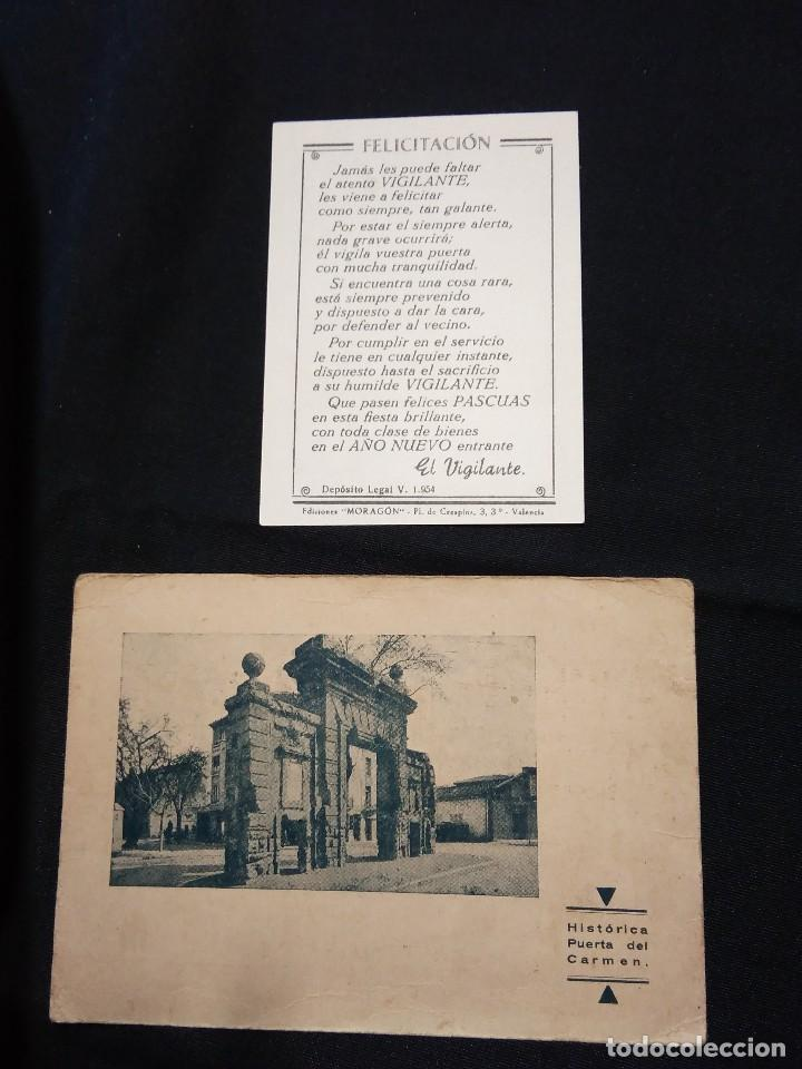 Postales: FELICITACION NAVIDAD 'EL VIGILANTE'. Años 40, y otra de 1954. - Foto 2 - 110791611