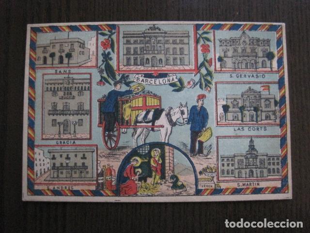 POSTAL FELICITACION EL BASURERO BARRIO -BARCELONA -FIN SIGLO XIX - VER FOTOS -(52.025) (Postales - Postales Temáticas - Navidad)