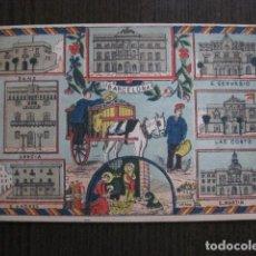 Postales: POSTAL FELICITACION EL BASURERO BARRIO -BARCELONA -FIN SIGLO XIX - VER FOTOS -(52.025). Lote 112565587
