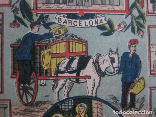 Postales: POSTAL FELICITACION EL BASURERO BARRIO -BARCELONA -FIN SIGLO XIX - VER FOTOS -(52.025) - Foto 2 - 112565587