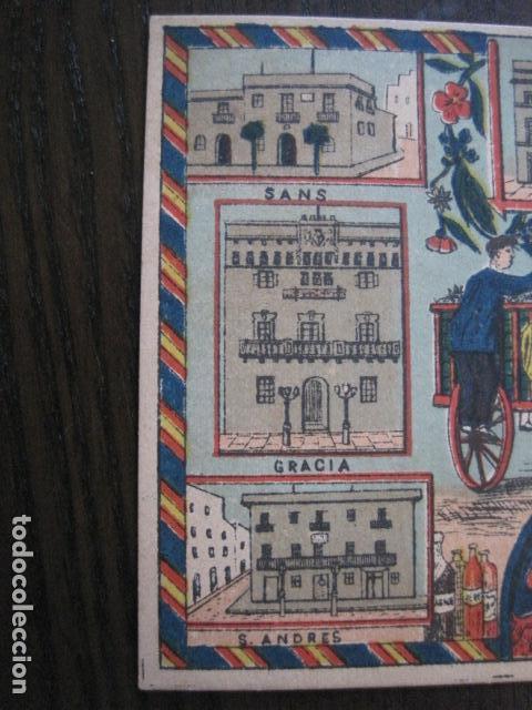 Postales: POSTAL FELICITACION EL BASURERO BARRIO -BARCELONA -FIN SIGLO XIX - VER FOTOS -(52.025) - Foto 4 - 112565587