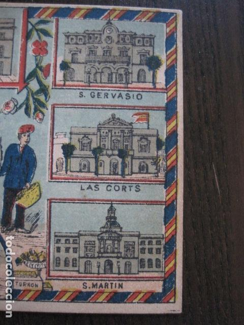 Postales: POSTAL FELICITACION EL BASURERO BARRIO -BARCELONA -FIN SIGLO XIX - VER FOTOS -(52.025) - Foto 5 - 112565587