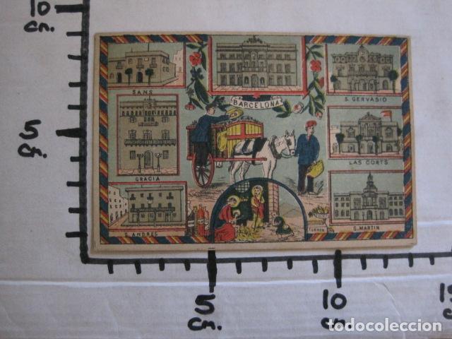 Postales: POSTAL FELICITACION EL BASURERO BARRIO -BARCELONA -FIN SIGLO XIX - VER FOTOS -(52.025) - Foto 7 - 112565587