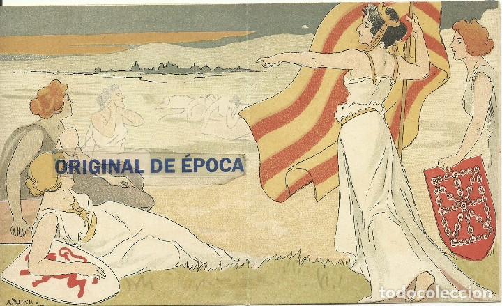 Postales: (PN-180300)TARJETA LOS REPARTIDORS LA VEU DE CATALUNYA FELICITAN LAS PASCUAL-ILUSTRADA POR A.UTRILLO - Foto 2 - 114455203