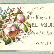 Postales: (PN-180302)TARJETA LOS MOZOS DEL BAZAR EL AGUILA FELICITAN A V.LAS PASCUAS DE NAVIDAD. Lote 114455463