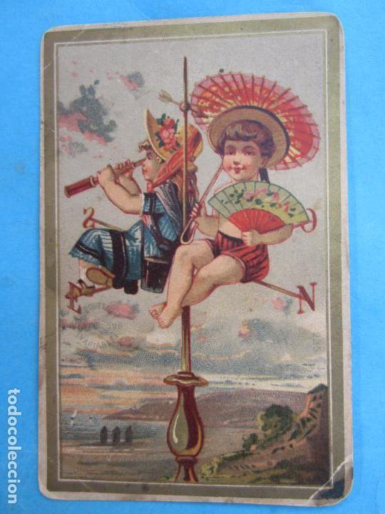 LOS MOZOS DE HIJOS DE GERONIMO JUNCADELLA , FELICITAN A V, LAS PASCUAS DE NAVIDAD ,PRIMEROS 1900 (Postales - Postales Temáticas - Navidad)