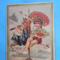 Postales: LOS MOZOS DE HIJOS DE GERONIMO JUNCADELLA , FELICITAN A V, LAS PASCUAS DE NAVIDAD ,PRIMEROS 1900. Lote 114937779