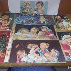 Postales: 8 ANTIGUAS FELICITACIONES NAVIDEÑAS ILUSTRADAS POR CONSTANZA. Lote 115084523