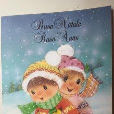 Postales: POSTAL DE NAVIDAD. DEDICADA. ESCENA INFANTIL. DIBUJO.. Lote 115919523