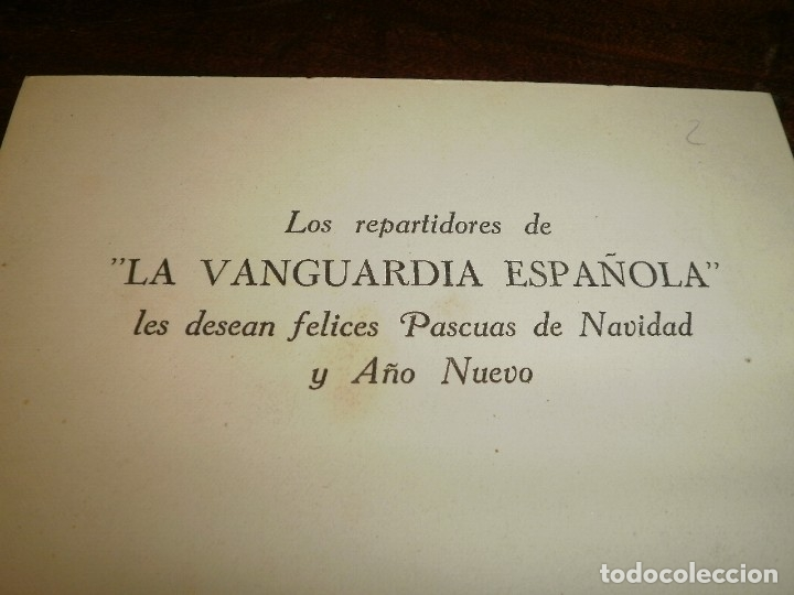 Postales: POSTAL DE LA VANGUARDIA FELICITANDO LA NAVIDAD - Foto 2 - 116470075