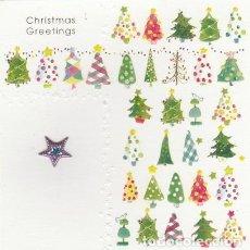 Postales: POSTAL FELICITACION NAVIDAD - CHRISTMAS - ENGLAND - ESTRELLA RELIEVE - ESCRITA - . Lote 116650335