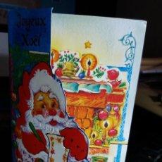 Postales: FELICITACION NAVIDAD TROQUELADA PAPA NOEL. Lote 117020067