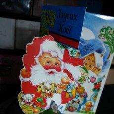 Postales: FELICITACION NAVIDAD TROQUELADA PAPA NOEL. Lote 117020127