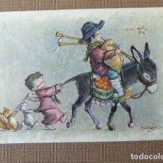 Postales: DIPTICO DE NAVIDAD. FERRANDIZ. ESCRITA. 11 X 16 CM PLEGADO.. Lote 117151083