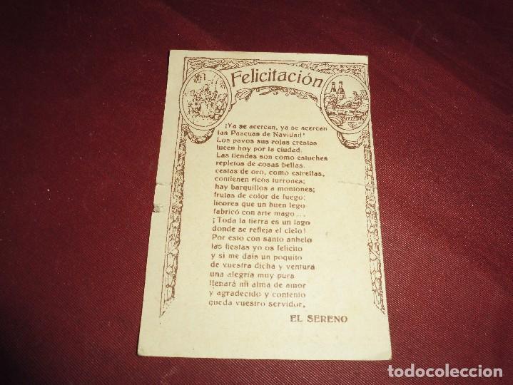 Postales: magnifica antigua felicitacion el sereno felicita las pascuas - Foto 2 - 117287515