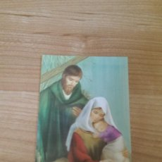 Postales: ANTIGUA POSTAL NAVIDEÑA «SANTA FAMILIA SOBRE FONDO VERDE». Lote 117371511