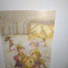 Postales: BONITO CRISMA AÑOS 80 NACIMIENTO NEVADO .DEDICADA. Lote 117406175